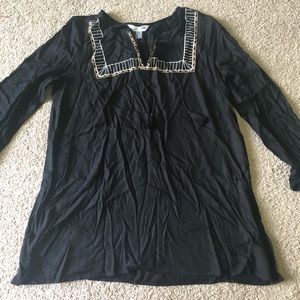 Old navy embroidered tunic top